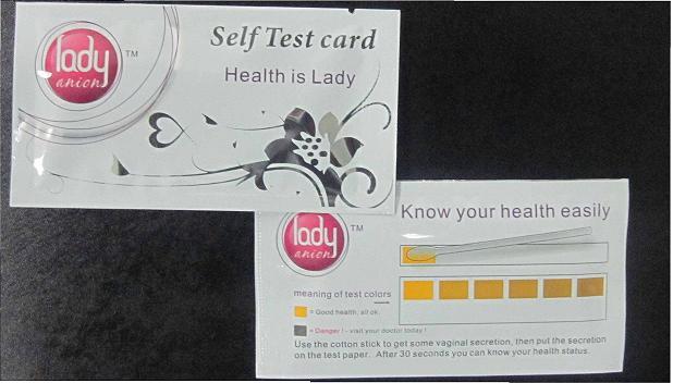 Lady-Anion-Self Test -Card
